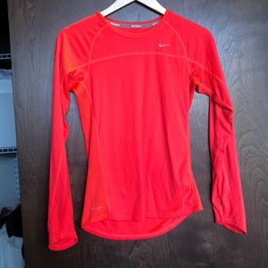 Bright pink Nike running long sleeve size Small